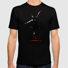Dance With Death  Black MEDIUM Mens Fitted Tee