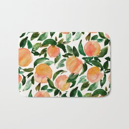 GEORGIA PEACHES Watercolor Peach Print Bath Mat