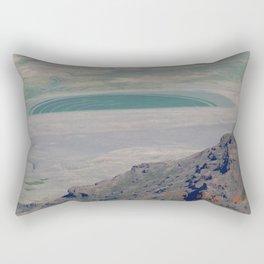 road trip, crop circle, farming, fields, greenery, dui alien Rectangular Pillow