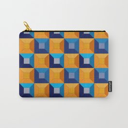 HOMEMADE 70S SQUARE PATTERN Carry-All Pouch