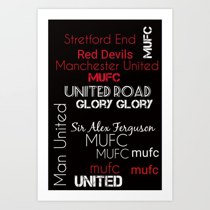 Manchester United Art Print By Key2myart Society6