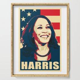 Kamala Harris Happy American Serving Tray