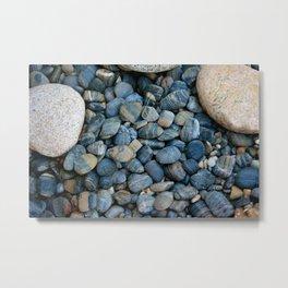 Ocean Blue Rock Garden Metal Print