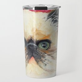 Watercolor Cat 11 Lazy Cat Travel Mug