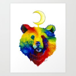 Rainbow Bear Spirit Art Print