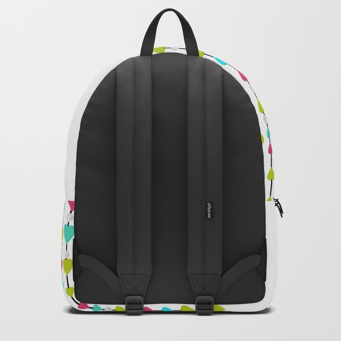 Pearl beads and hearts . Backpack