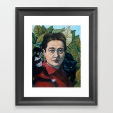 Simone DeBeauvoir Framed Art Print