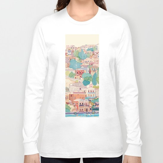symi island greece Long Sleeve T-shirt