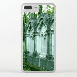 Warsaw Jew Cemetery Clear iPhone Case