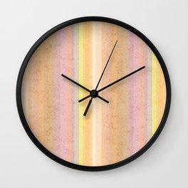 Multi-colored striped pattern .4 Wall Clock