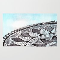 zentangle Area & Throw Rugs featuring Zentangle by Nathanee.