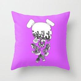 Pieced Away (purple)  Throw Pillow