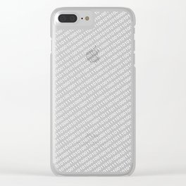 Binary Code DOS diagonal version Clear iPhone Case
