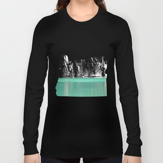Green Water, Black and White Long Sleeve T-shirt