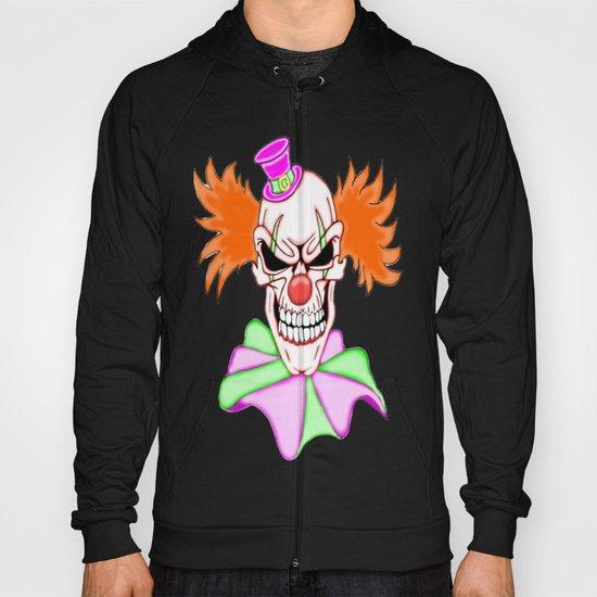 Demented Clown Skull Hoody