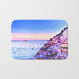 Twilight Over Positano, Italy Bath Mat