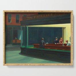 Nighthawks by Edward Hopper - 1942 Serving Tray