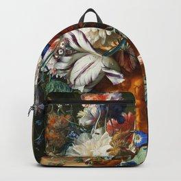 "Jan van Huysum ""Bouquet of Flowers in an Urn"" Backpack"