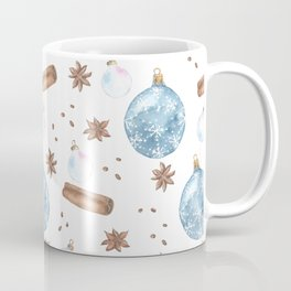 Christmas Ornaments  and Spice Festive  Pattern Coffee Mug