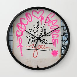 I Will Miss You-NYC Wall Clock