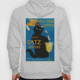 Mix Your Drinks with Catz (Cats) Bitters Aperitif Liquor Vintage Advertising Poster Hoody