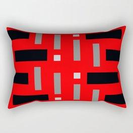 Pattern of Squares in Red Rectangular Pillow