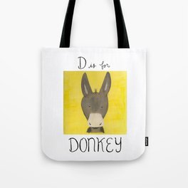 D is for Donkey Tote Bag