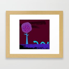Where does the wiggly worm wander? Framed Art Print
