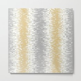 grey gold white design  Metal Print