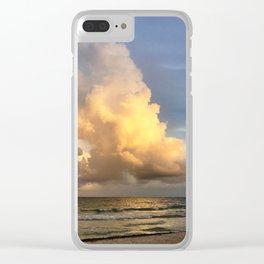 Sunset Tulum Clear iPhone Case