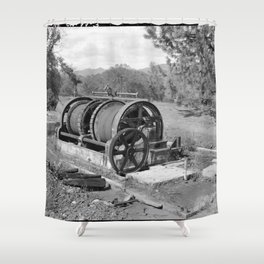 Mountain King Gold Mine and Mill Shower Curtain