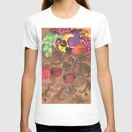 Fruit and Wine Stil life T-shirt
