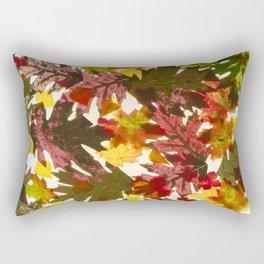 Autumn Leaves Pattern Rectangular Pillow