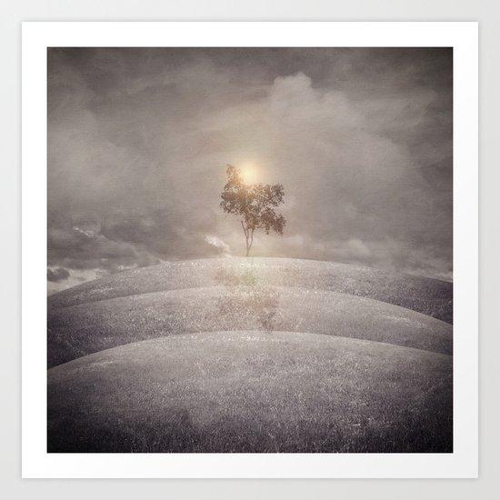 The lone tree Art Print