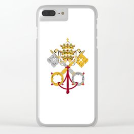 Vatican City Holy See flag emblem Clear iPhone Case