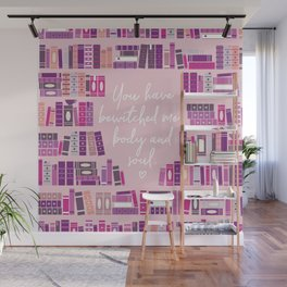 Mr Darcy Quote Bookcase Wall Mural