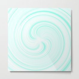 Blueberry Sundae Swirl Metal Print