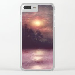 Hope in the pink water Clear iPhone Case