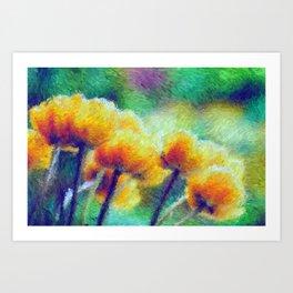Impressionist Tulips Art Print
