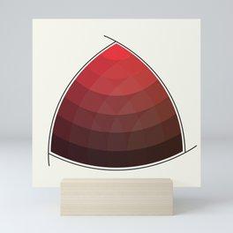 Le Rouge-Orangé (ses diverses nuances combinées avec le noir) Remake (Interpretation), no text Mini Art Print