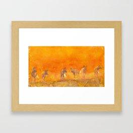 african wild dogs Framed Art Print