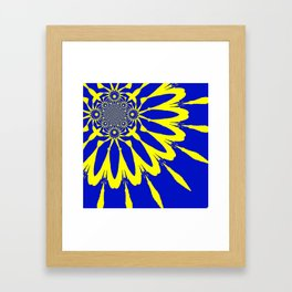 The Modern Flower Blue & Yellow Framed Art Print