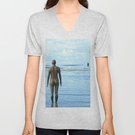 Iron Men as the tide returns Unisex V-Neck