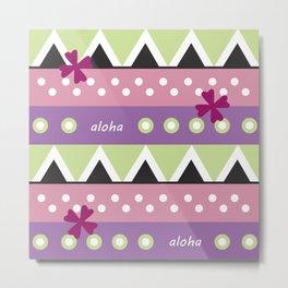 Pink Hawaiian Tapa Metal Print