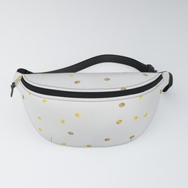 Gold Confetti on Pastel Grey Fanny Pack