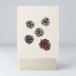 Pine cones Mini Art Print