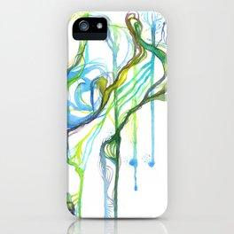 Aqua Trickle iPhone Case
