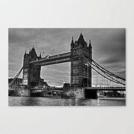 Tower bridge in black and white. Canvas Print
