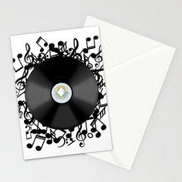 Vinyl Music Stationery Cards