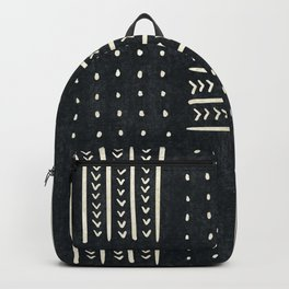 Mud cloth in black and white Backpack
